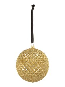 Gold textured bauble