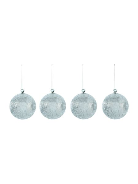 Linea Pack of 4 blown glass textured baubles