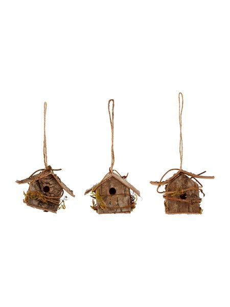Linea Pack of 3 rustic birdhouses