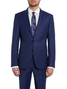 Simon Carter Solid slim fit suit jacket