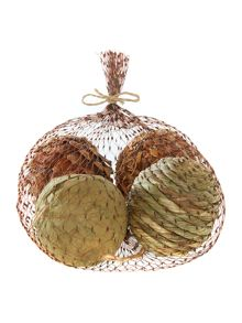 Bag of natural textured baubles
