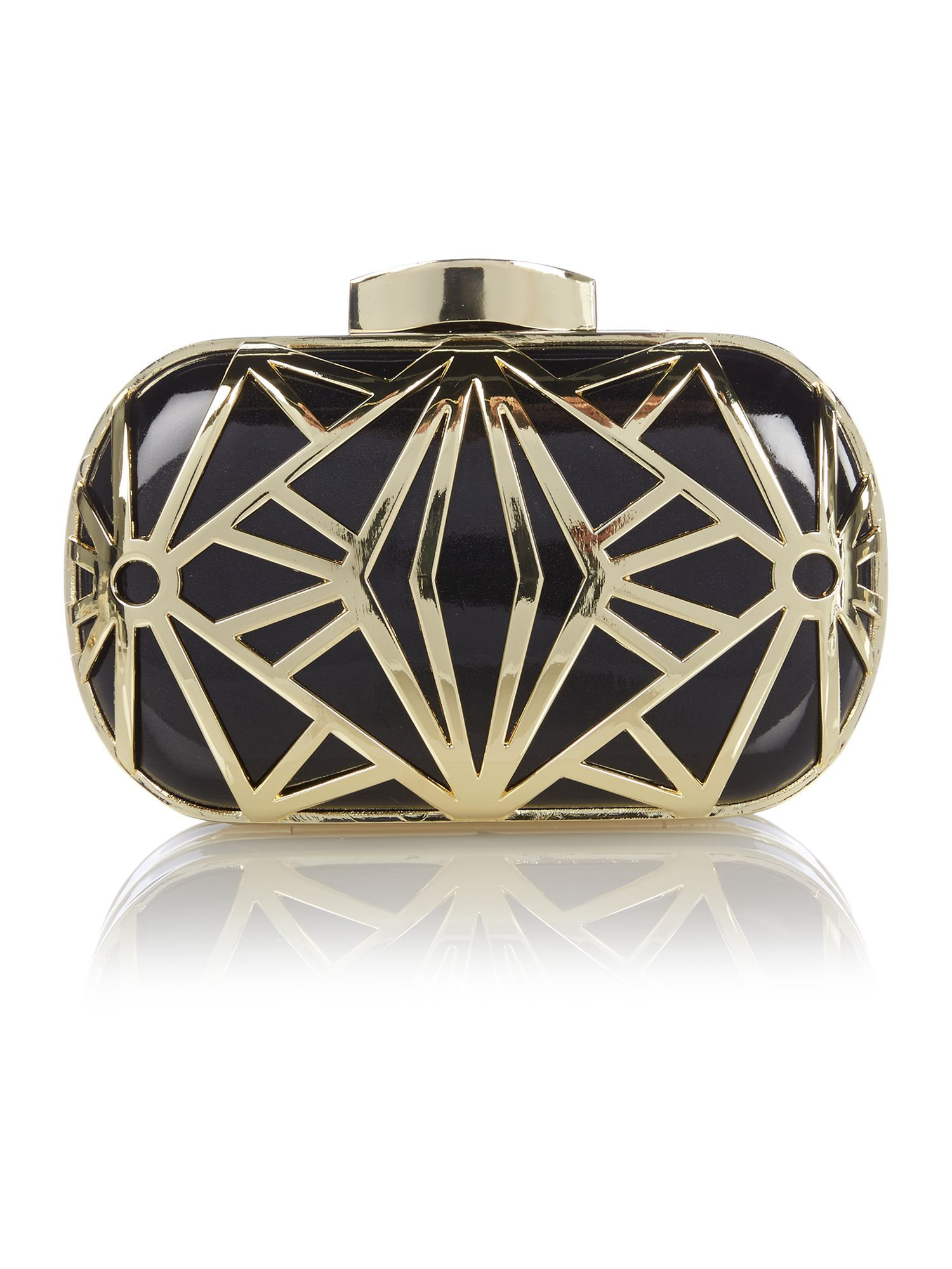 1930s Handbags and Purses Fashion Biba Deco box logo clutch £59.00 AT vintagedancer.com