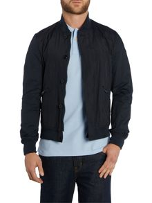 Classic button front bomber