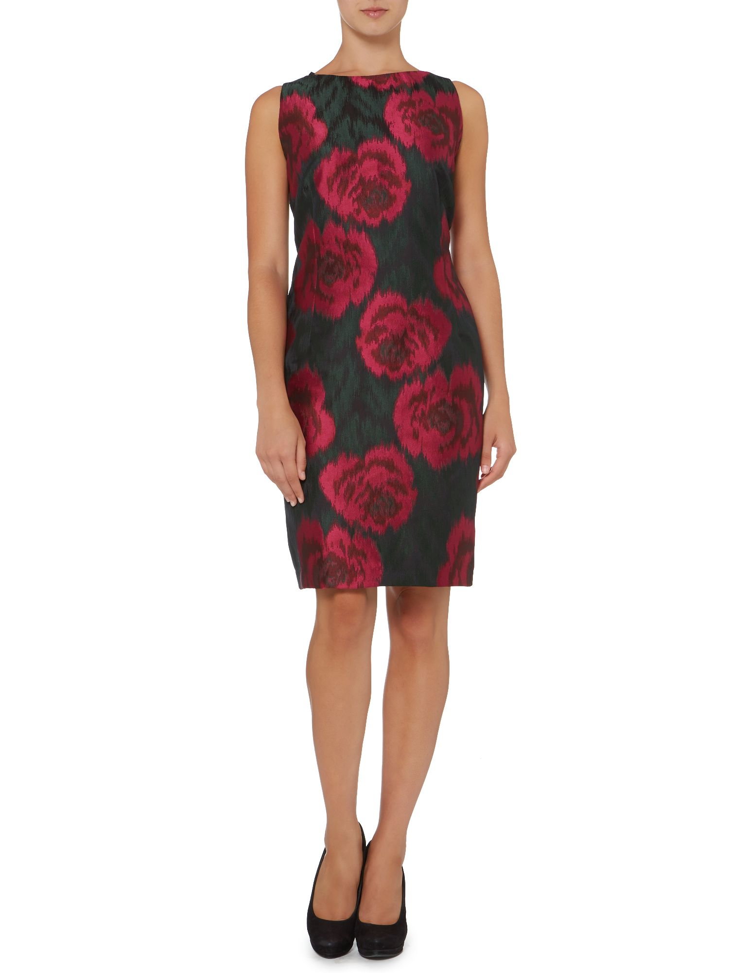 Jacquard rose dress