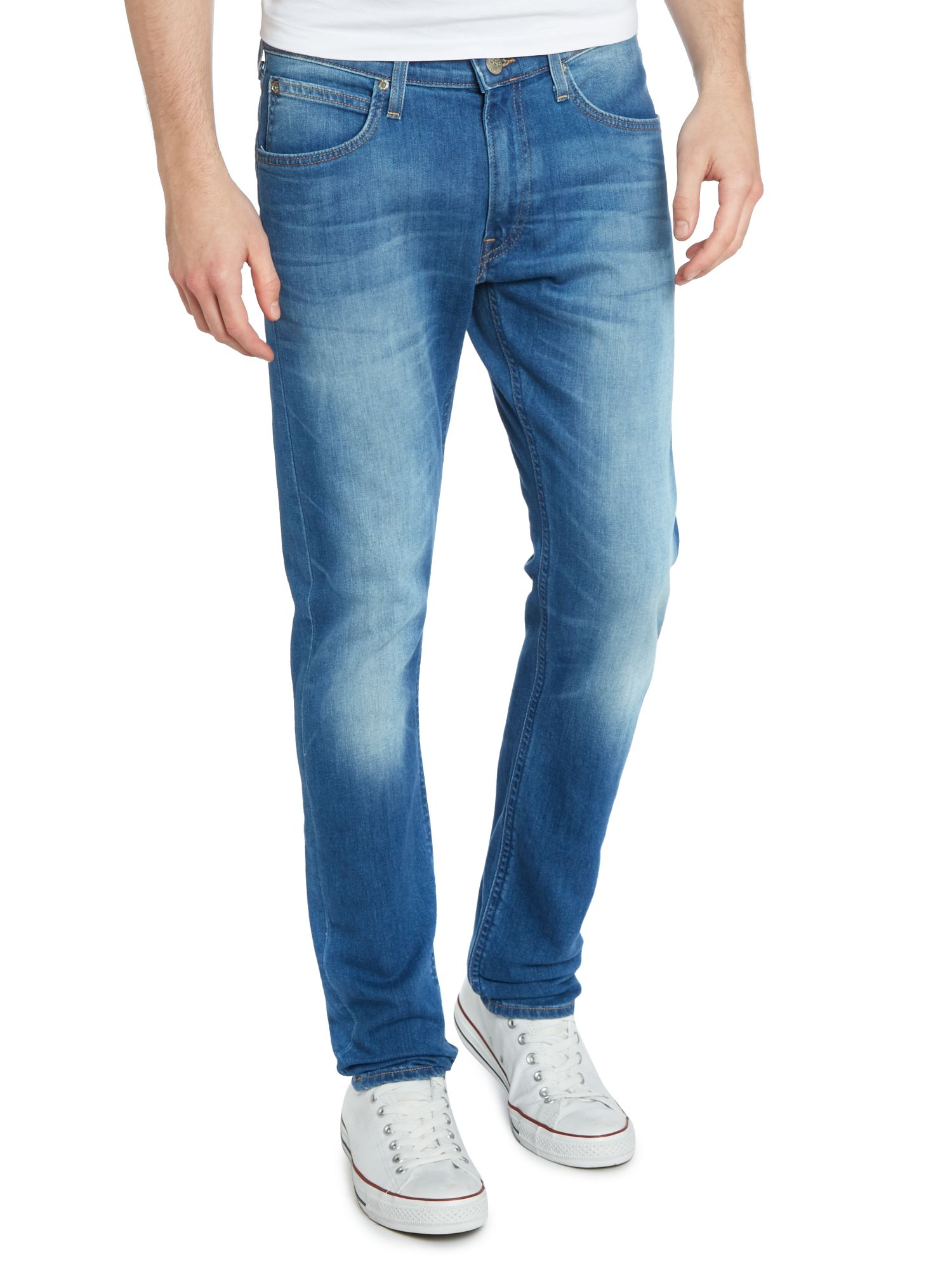 Luke slim fit blue stream jeans