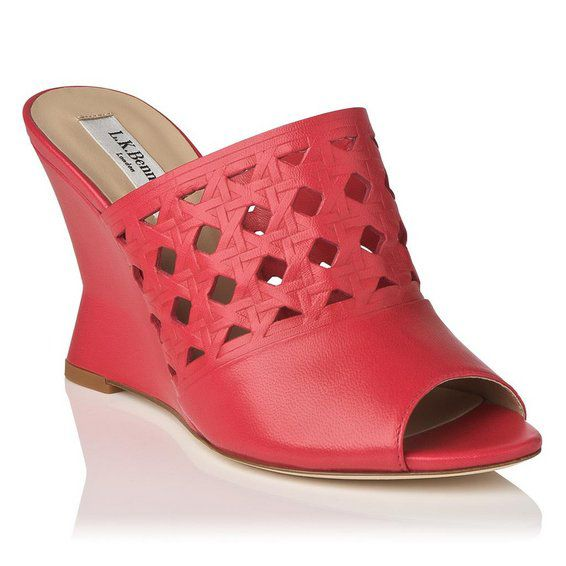 Diana peep toe wedge shoes