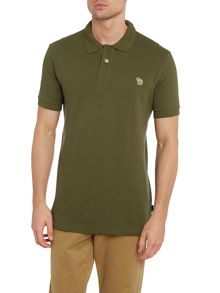 Zebra logo short sleeve polo shirt