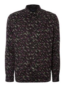 Tape Print Long Sleeve Shirt