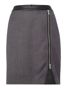 Tweed check pencil skirt