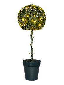 Topiary ball leaf effect with lights 80cm