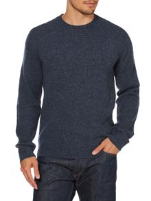 Flecked crew neck jumper