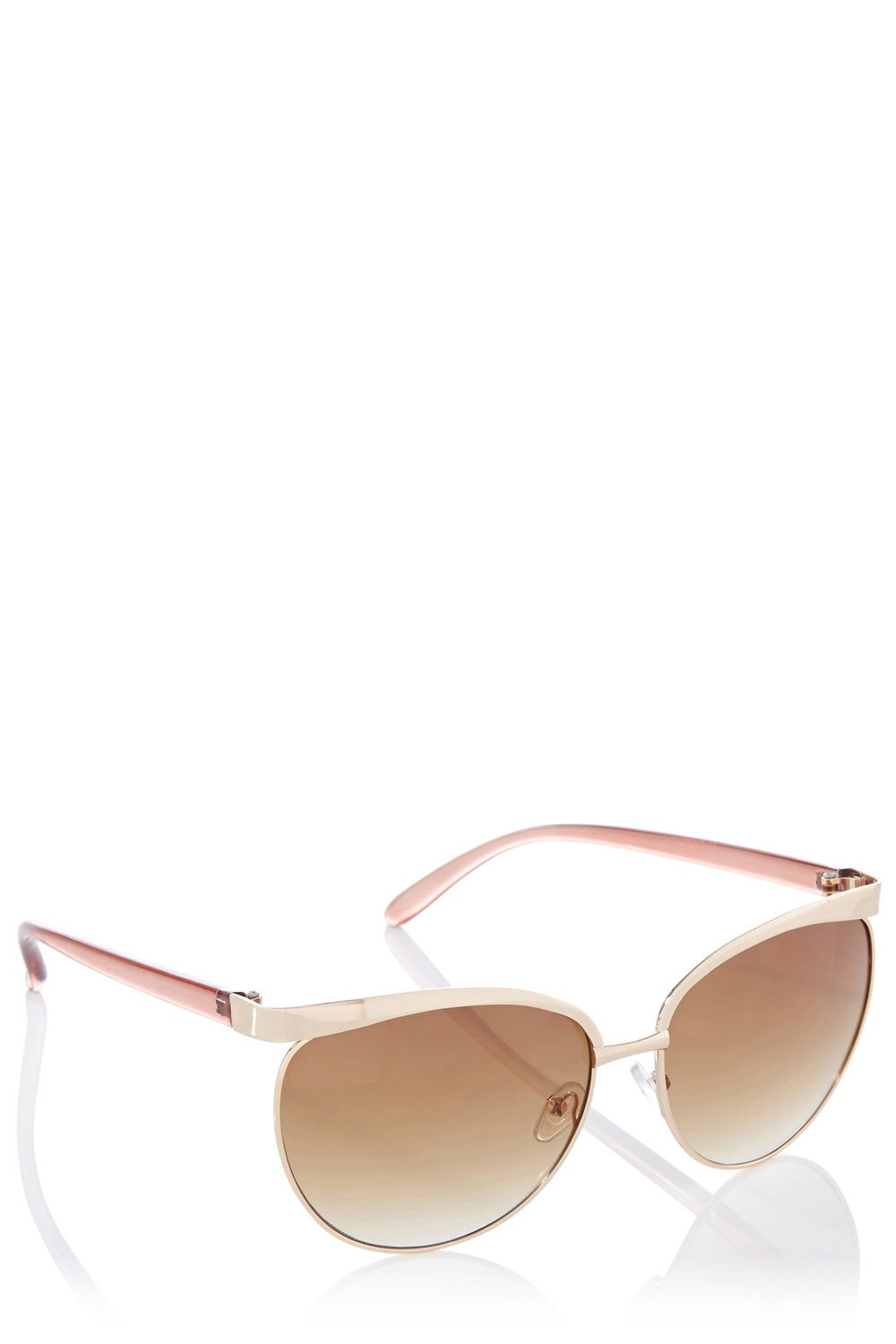 Oversized metal frames sunglasses