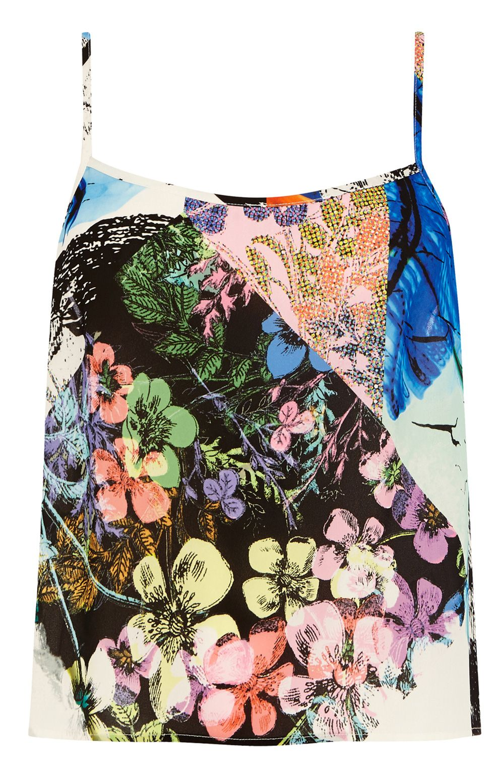 Collage floral camisole