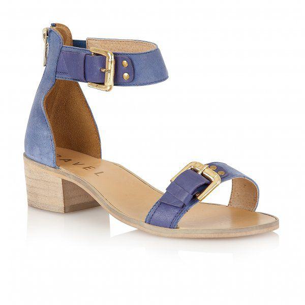 Gerbera leather open toe block buckle sandals