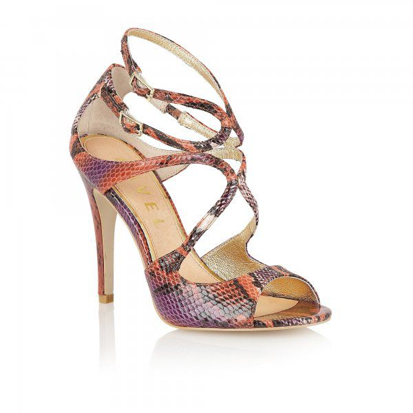 Geranium peep toe stilleto buckle sandals