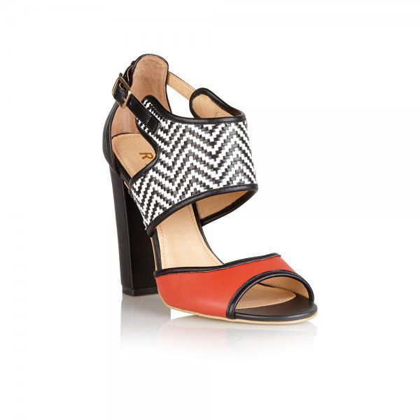 Lantana peep toe block heel buckle sandals