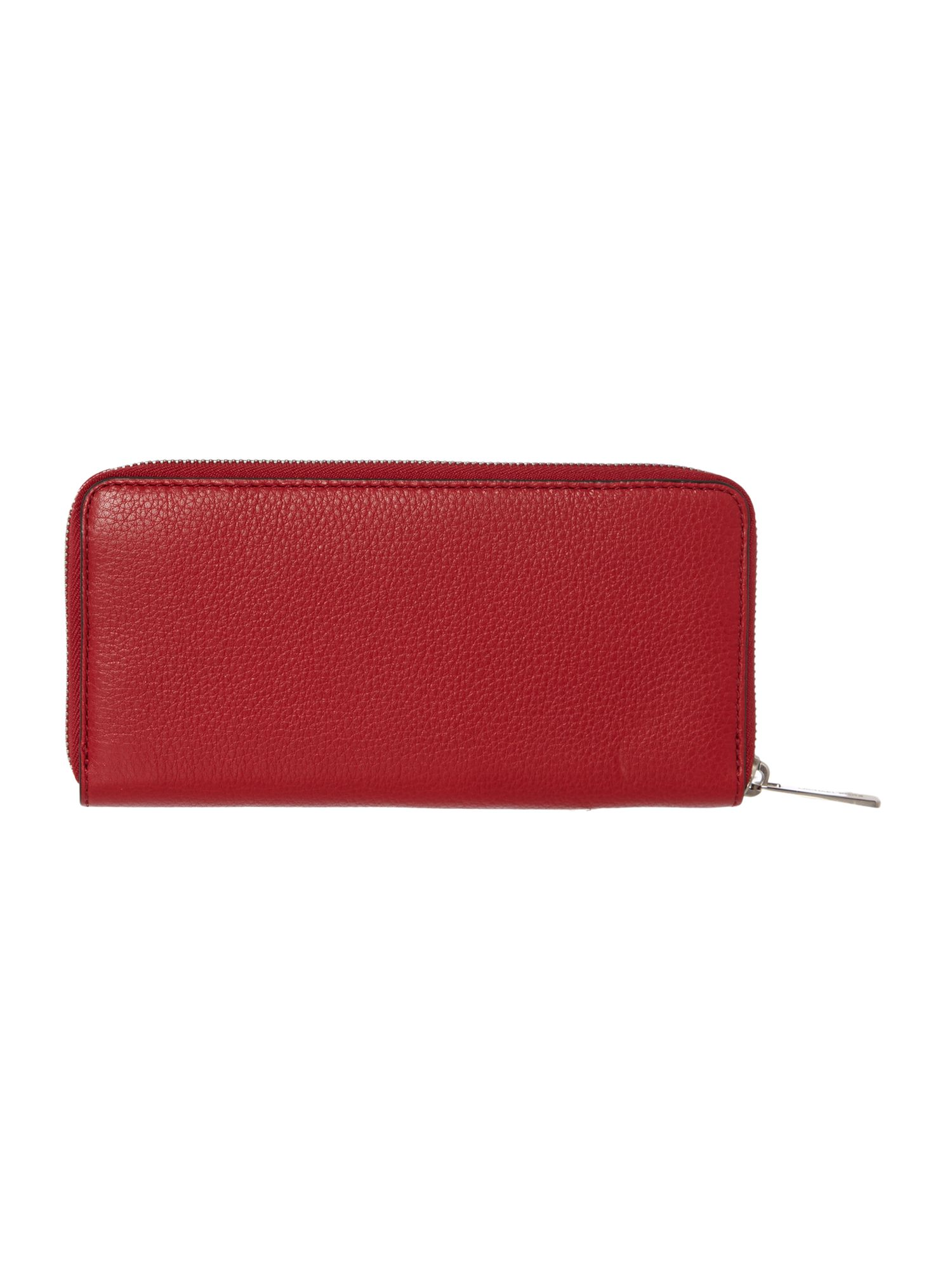 Beford large red zip around purse