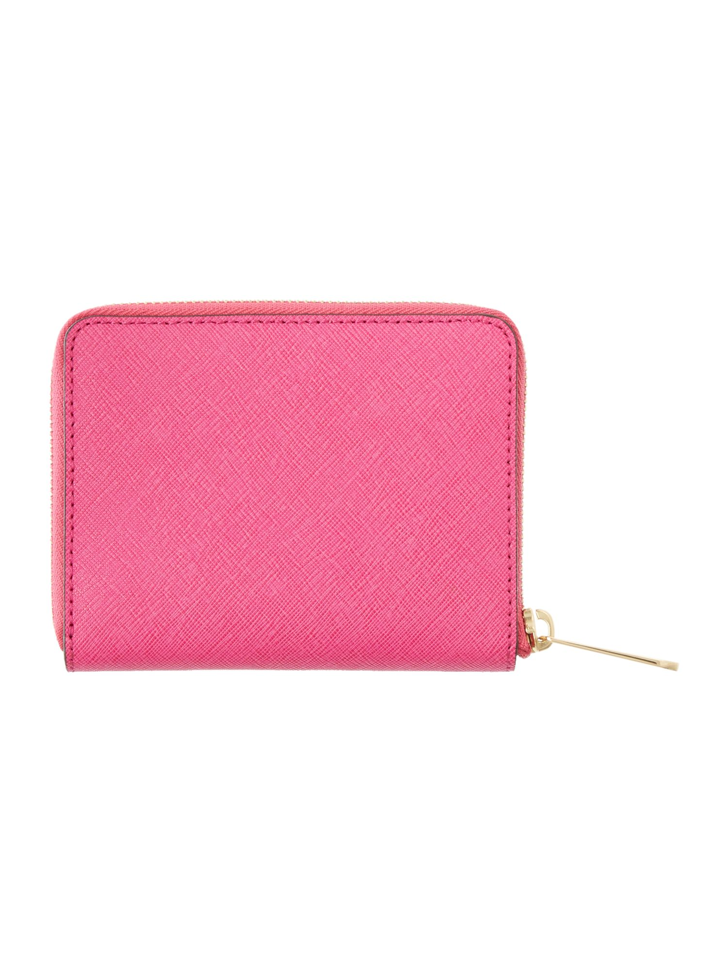 Jet Set Travel pink medium zip around purse
