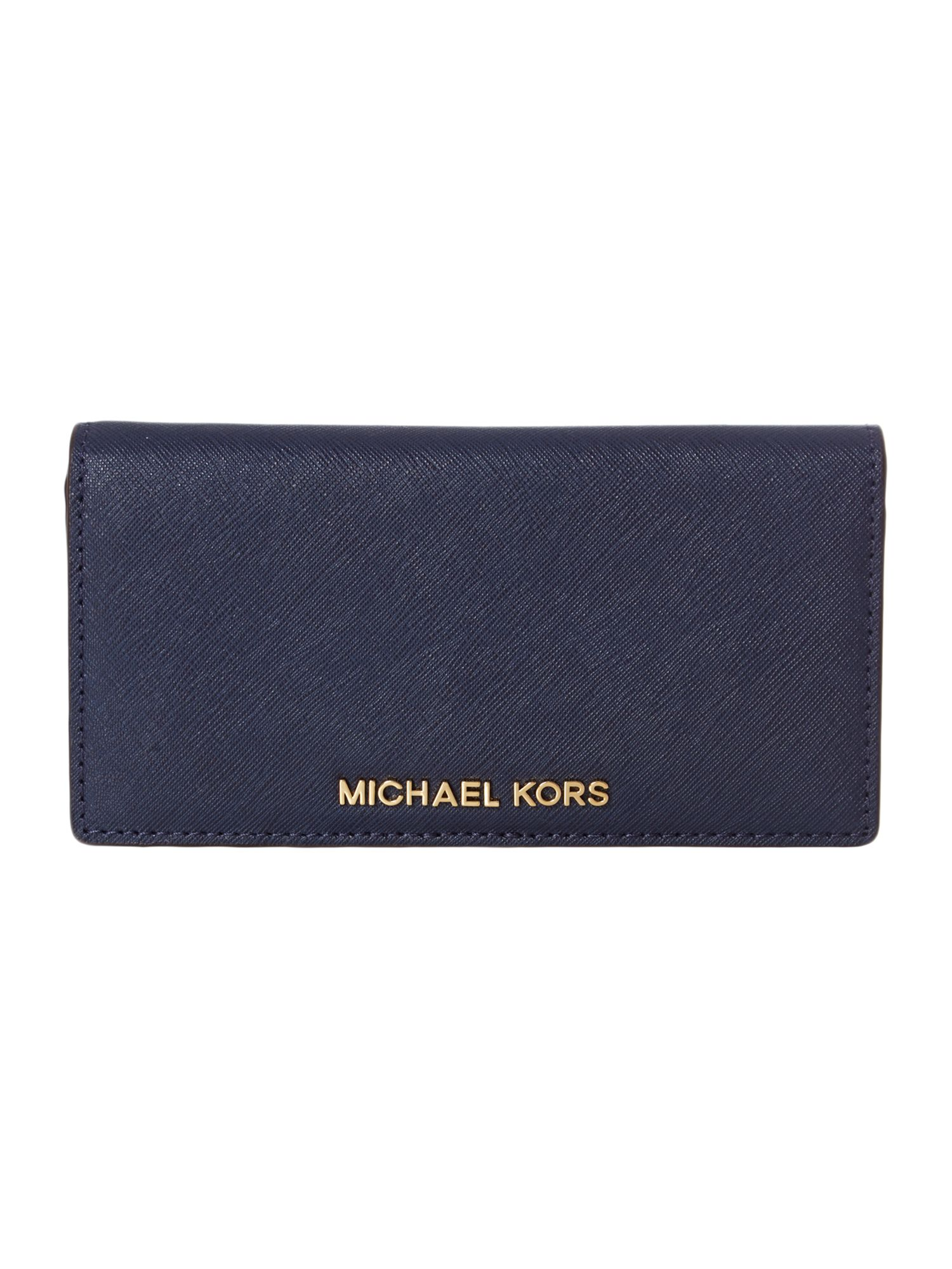Jet Set Travel navy large wallet
