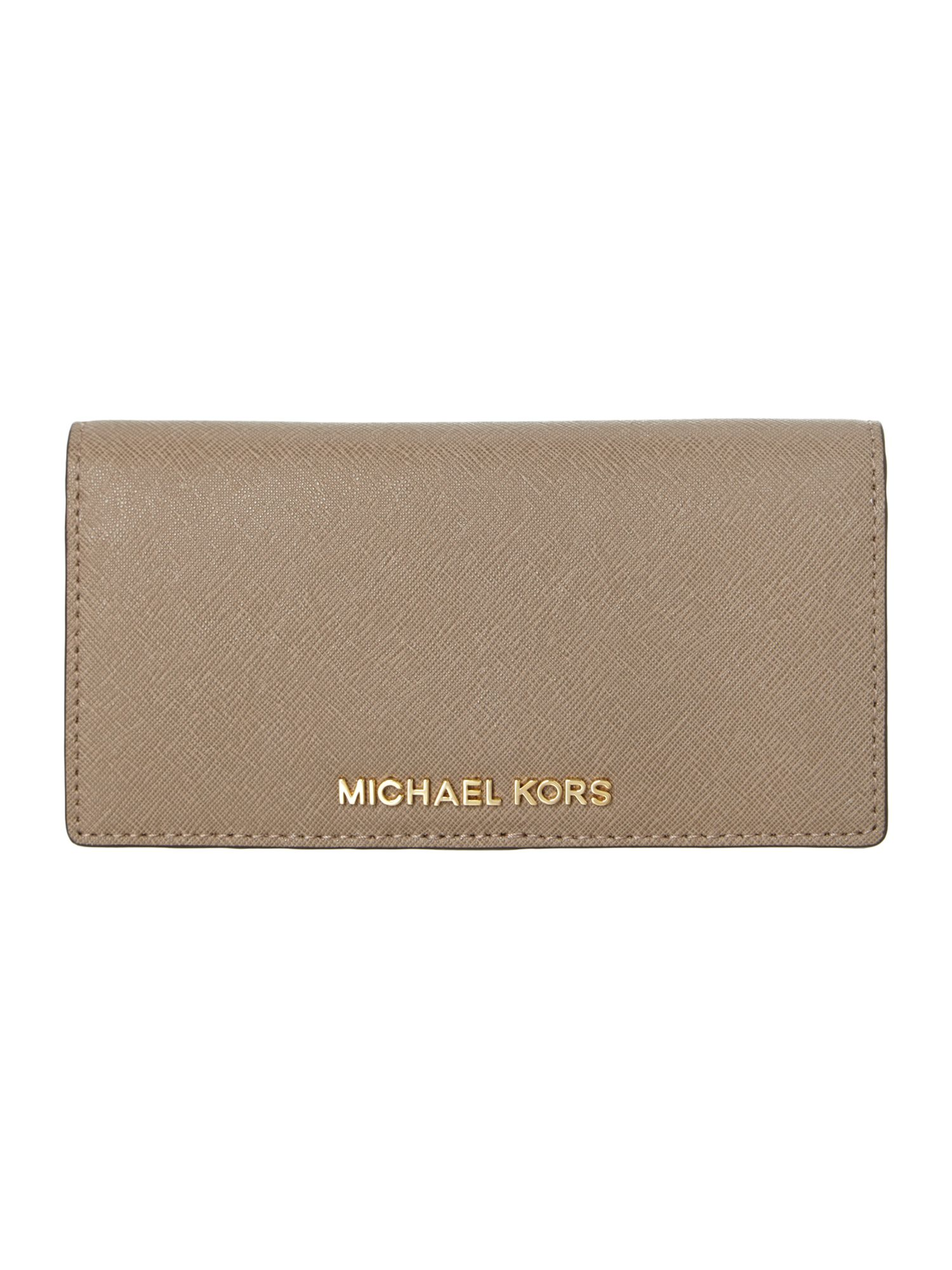 Jet Set Travel sand large wallet