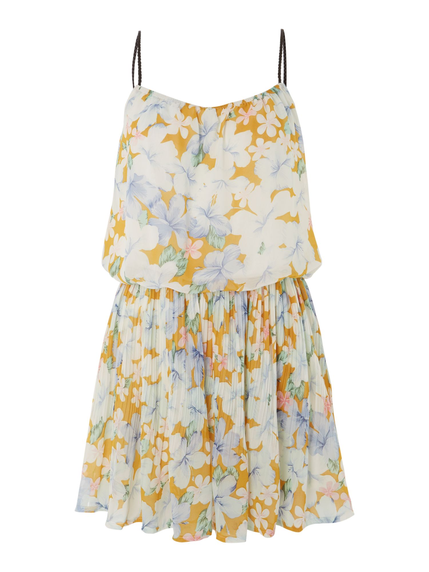 Floral strap shoulder dress