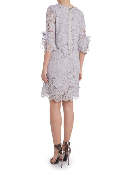 Jolie Moi 3/4 sleeve crocheted lace tunic