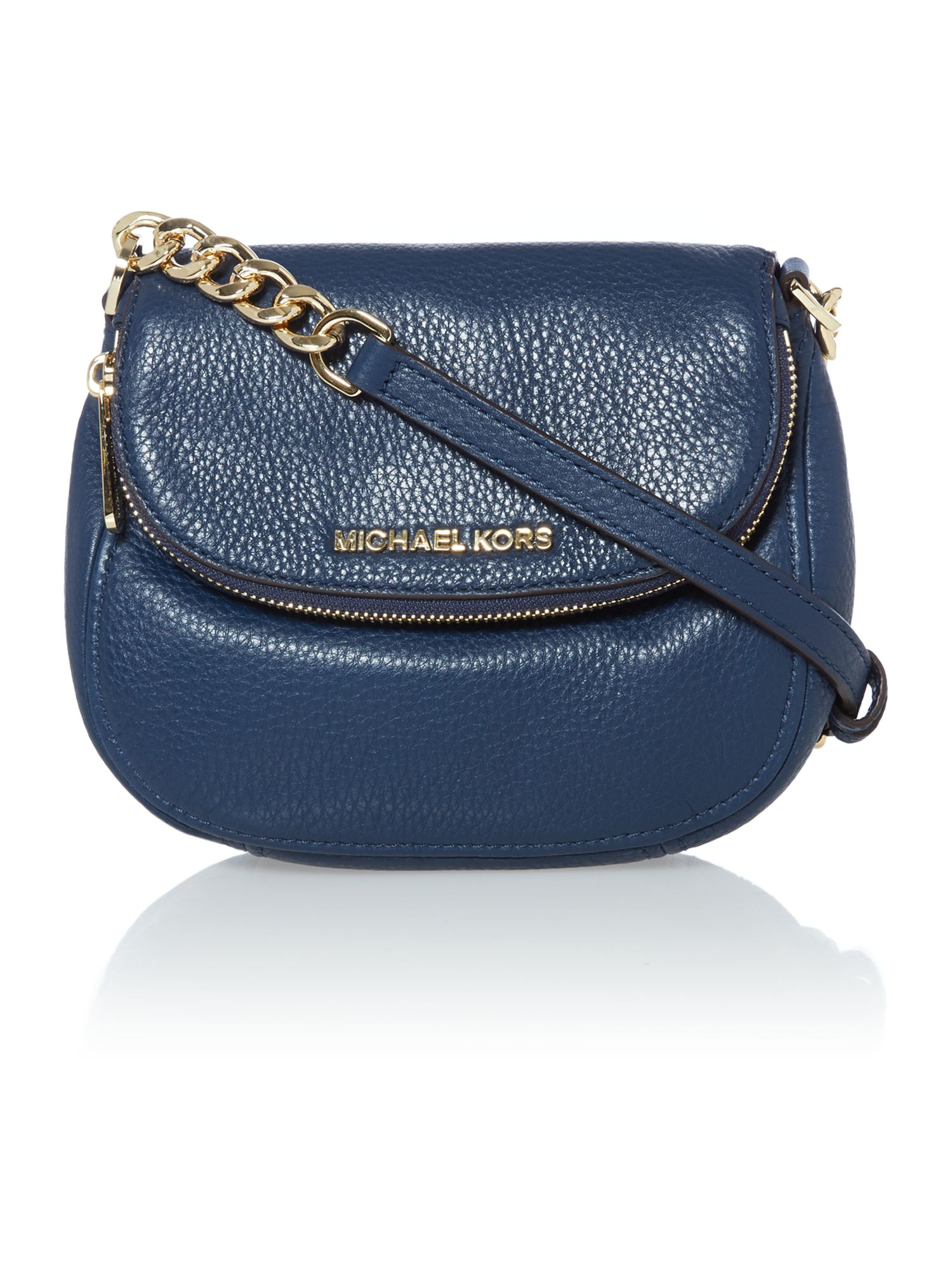 Bedford navy flap over cross body bag