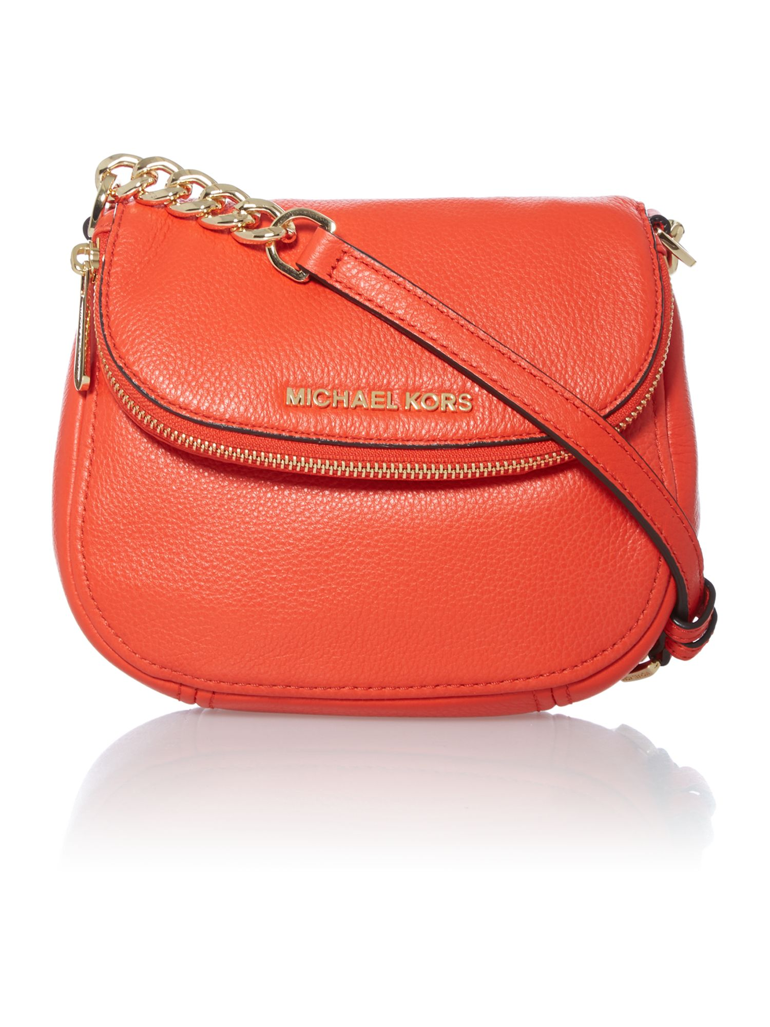 Bedford orange flap over cross body bag