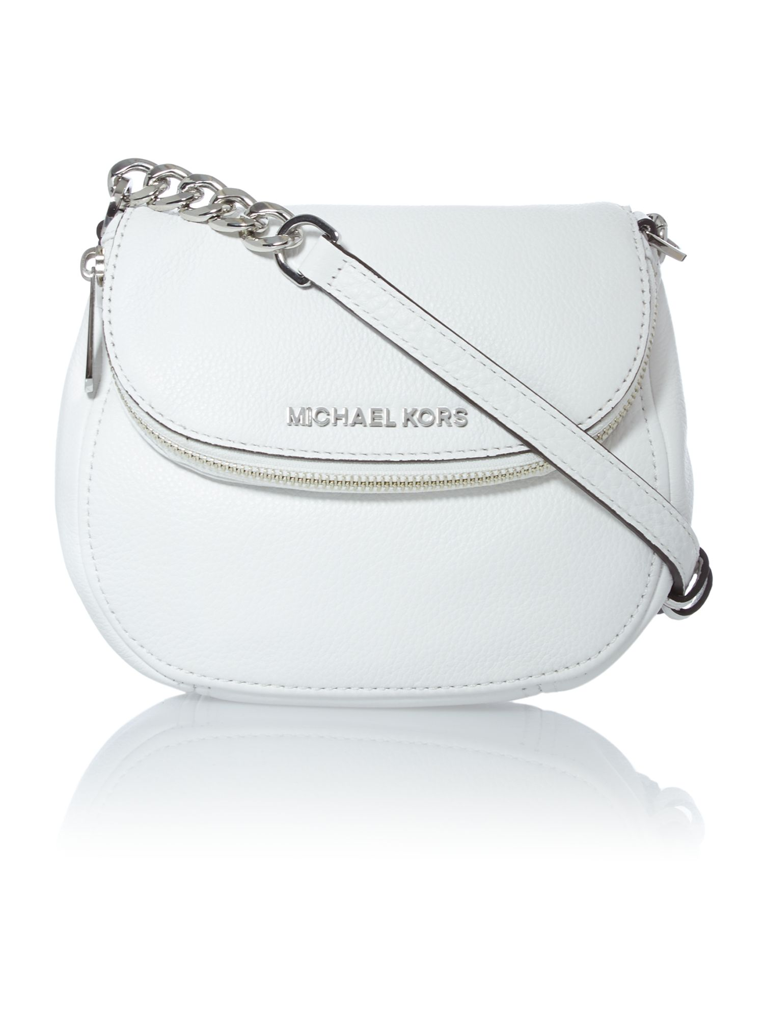 Bedford white flap over cross body bag