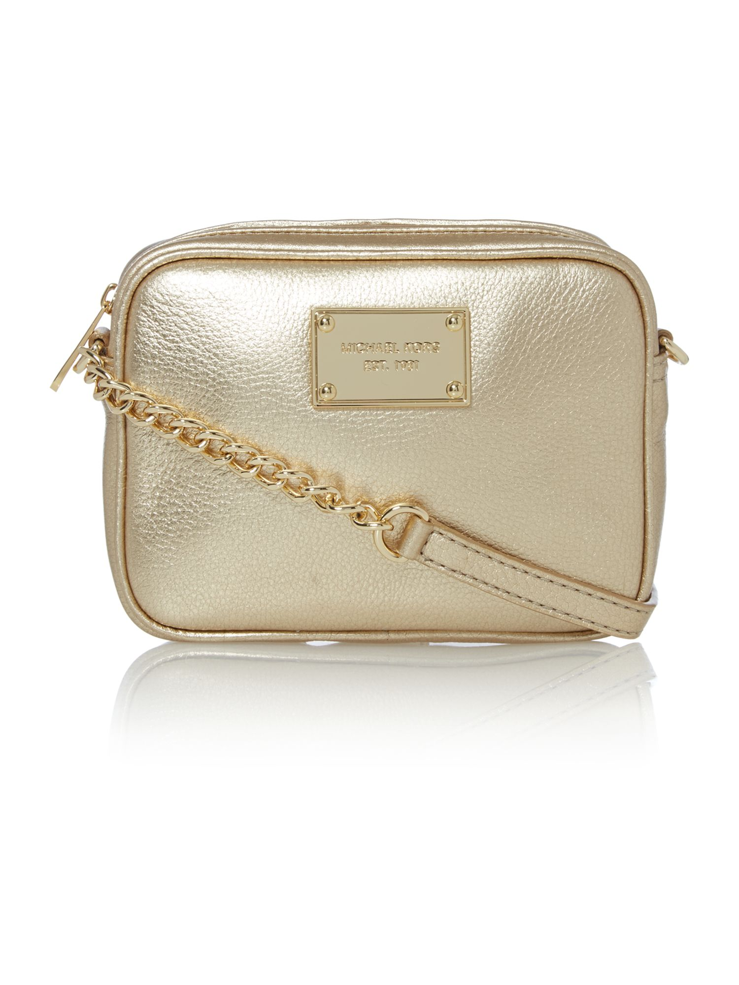 Jet Set Item gold cross body bag