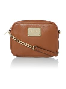Michael Kors Jet Set Item tan cross body bag