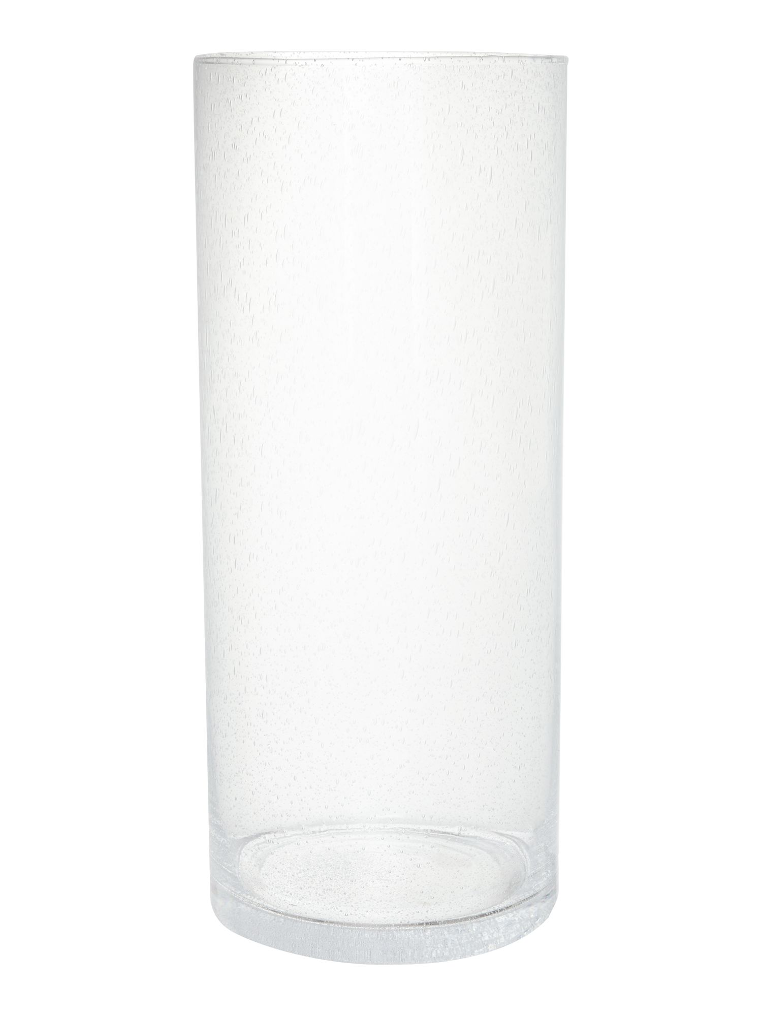 Clear bubble cyclinder vase medium