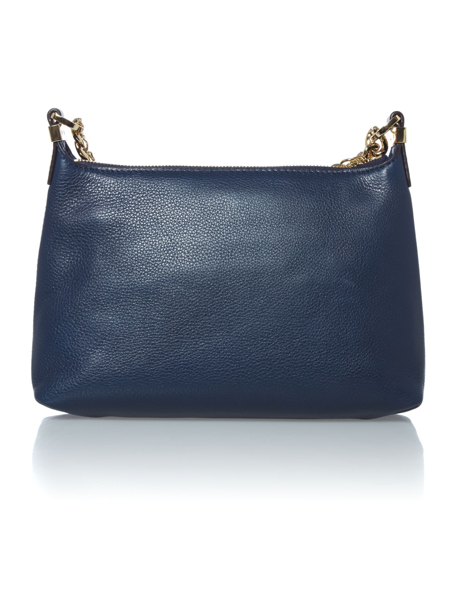 Weston navy zip top cross body bag