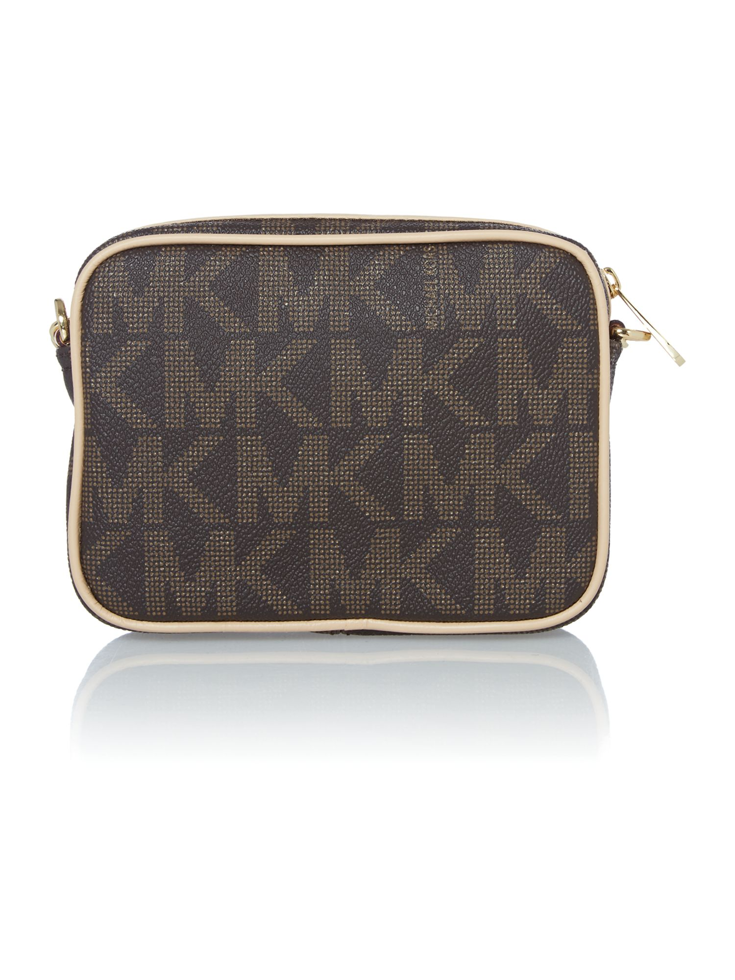 Jet Set Item brown logo cross body bag