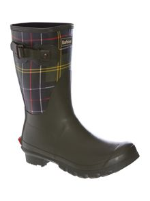 Short classic tartan welly