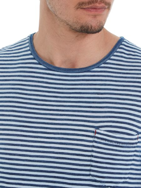 Jack & Jones Indigo dye stripe t-shirt