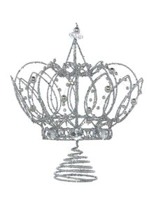 Silver crown tree topper