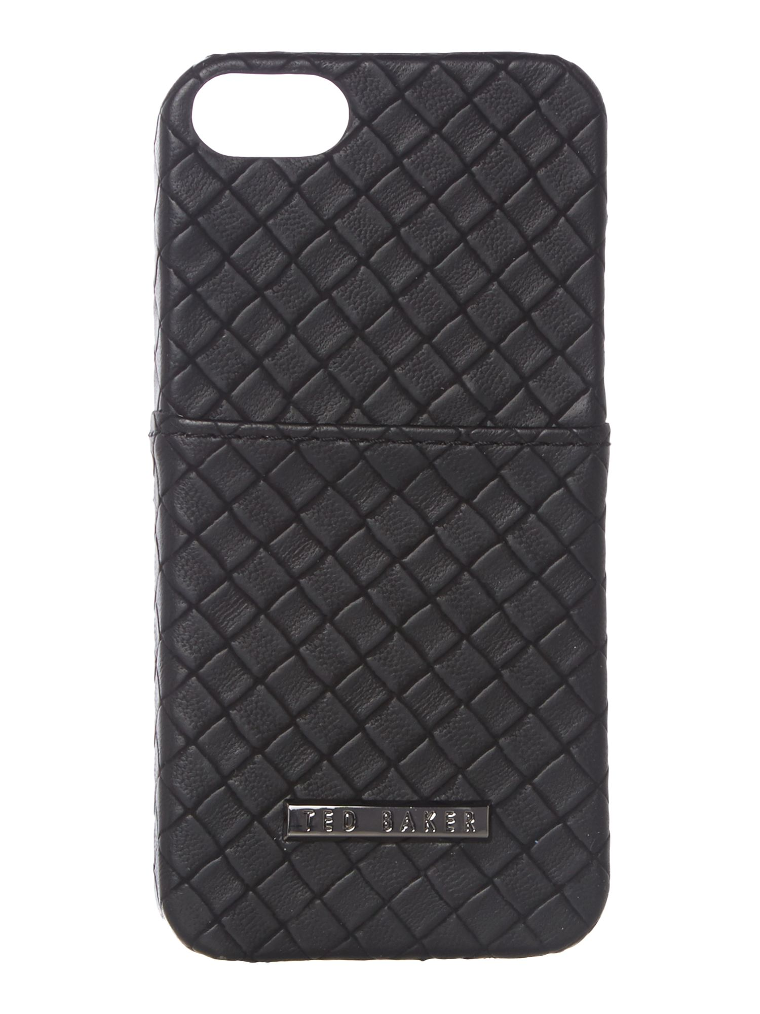 Woven phone case with card slot