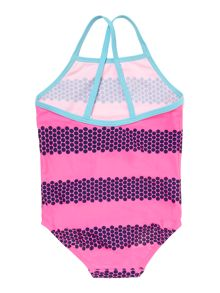 Girls stripe print swim suit