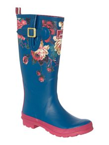 Topaz floral printed welly