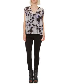 Inky print oversized top