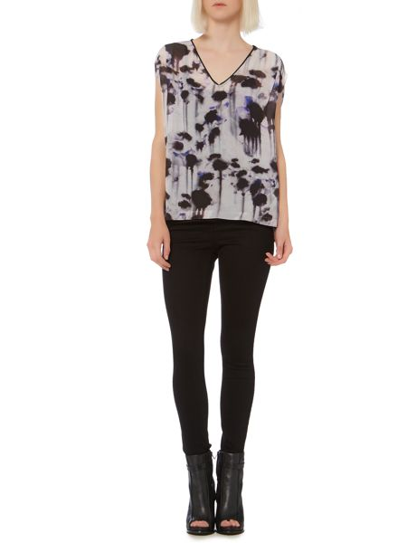 Label Lab Inky print oversized top