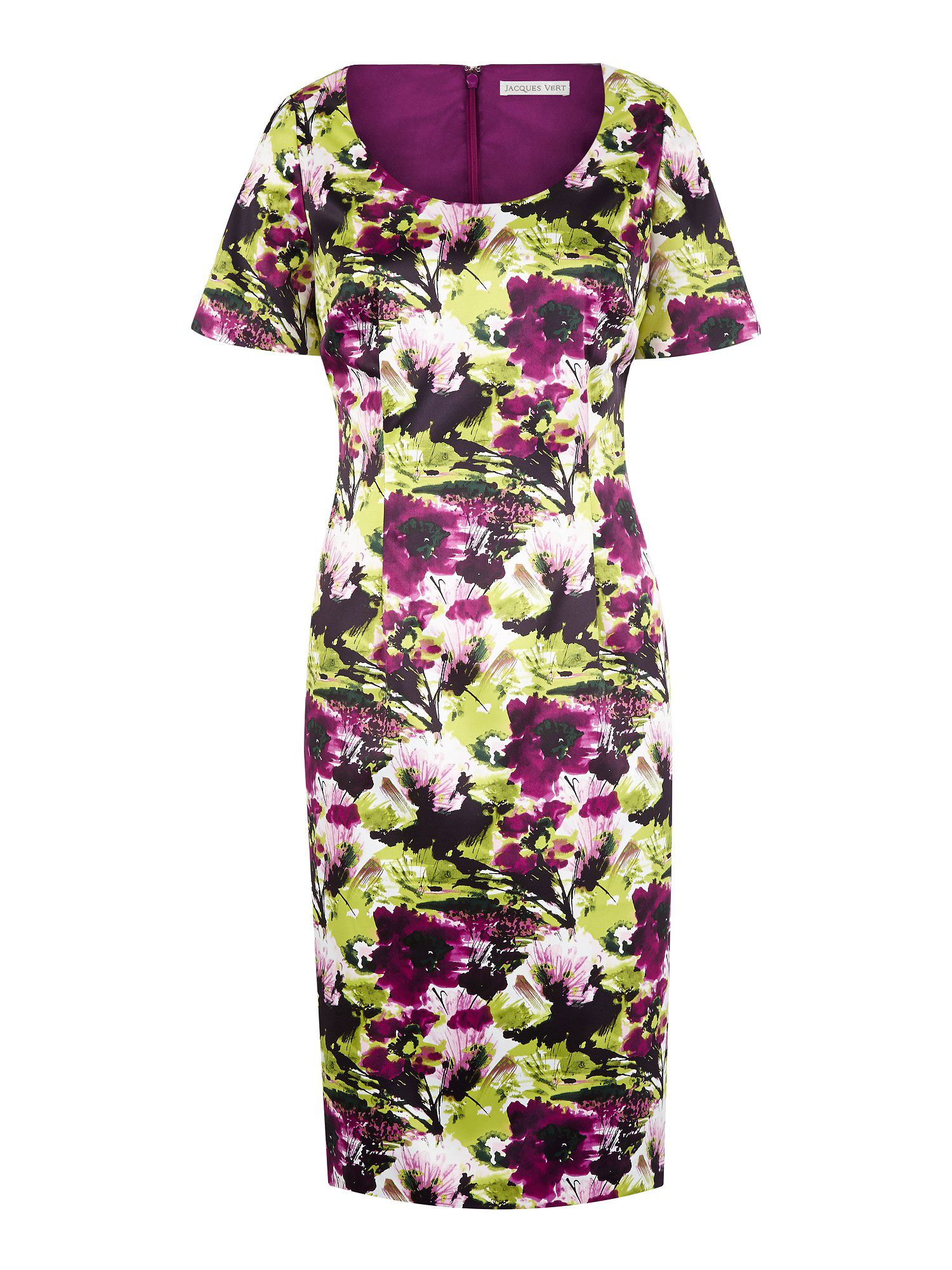 Bright garden floral shift dress