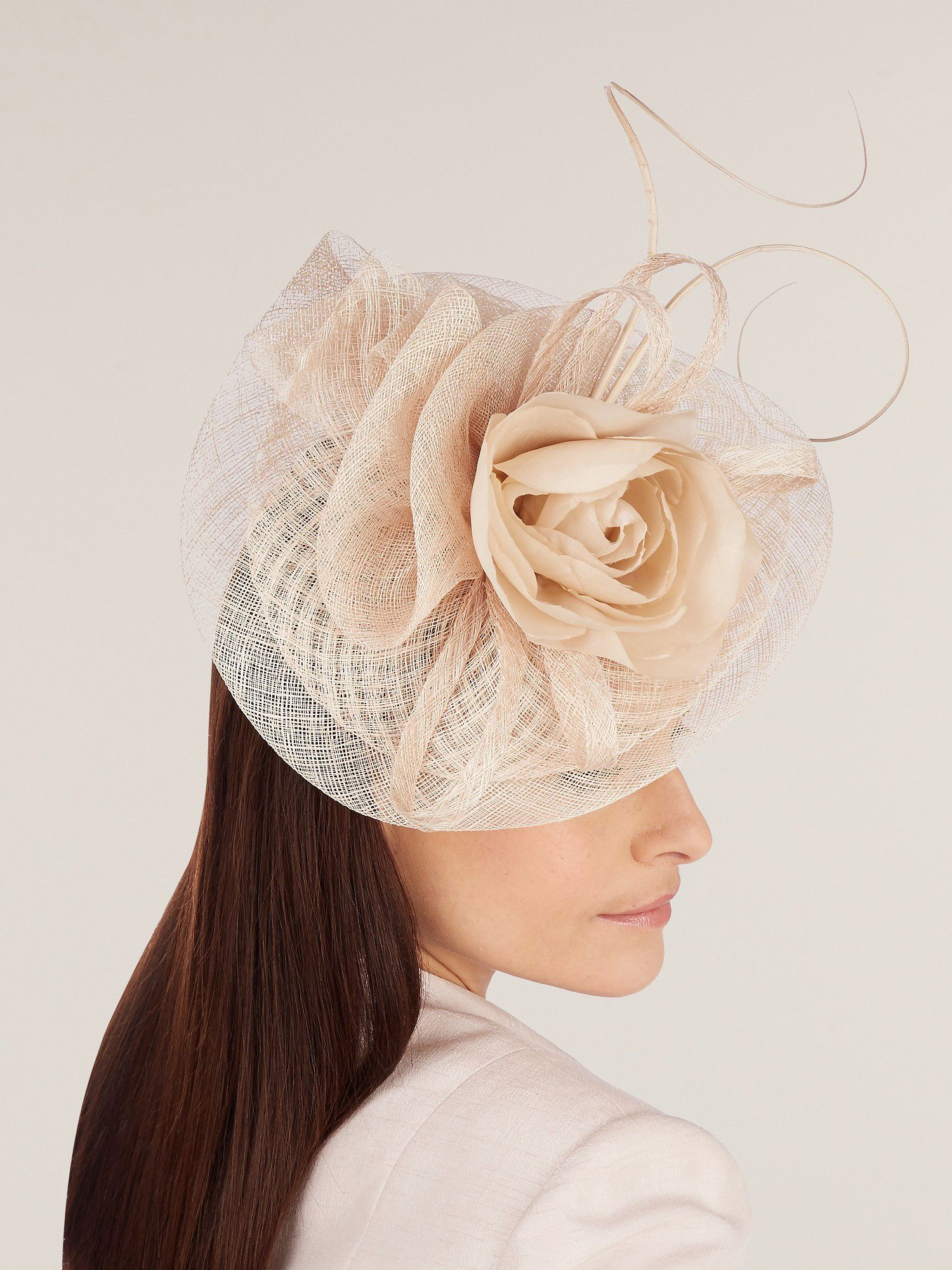 Silk flower fascinator