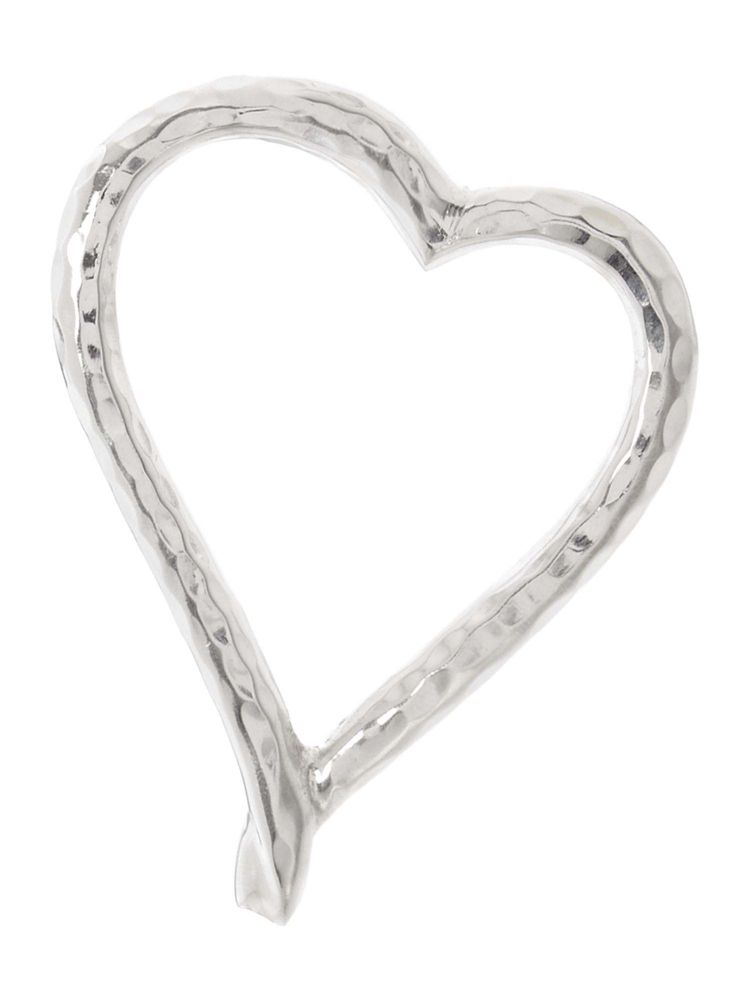 Linea Beaten metal heart napkin rings set of 4