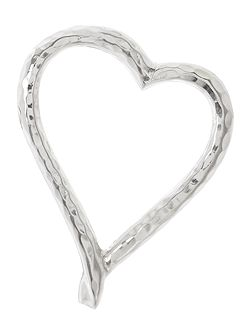 Beaten metal heart napkin rings set of 4