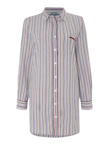 Yarn dye stripe cotton nightshirt