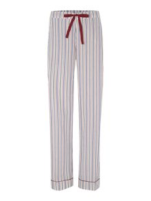 Yarn dye stripe cotton pj trousers