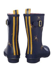 Navy horse printed molly short welly