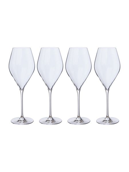 Linea Hannah red wine crystal glass set of 4
